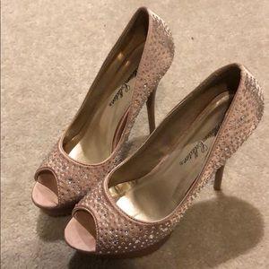 Jeweled Platform Heels